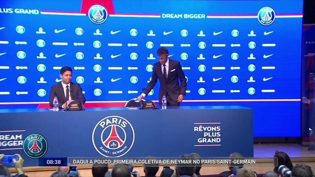Neymar fala pela primeira vez