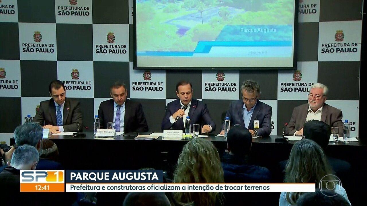 Prefeitura, MP e construtoras assinam termo de intenções para construção do Parque Augusta