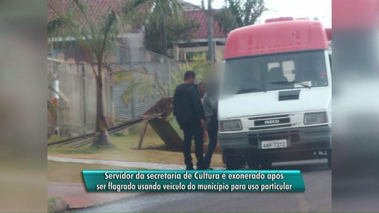 Resultado de imagem para Servidor de Cascavel é flagrado usando ambulância para assuntos pessoais