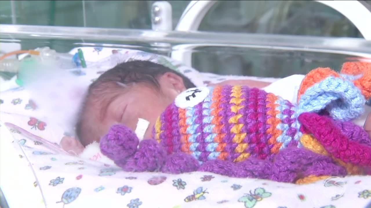Projeto com polvinhos de crochê ajuda prematuros da UTI Neonatal em Resende, RJ