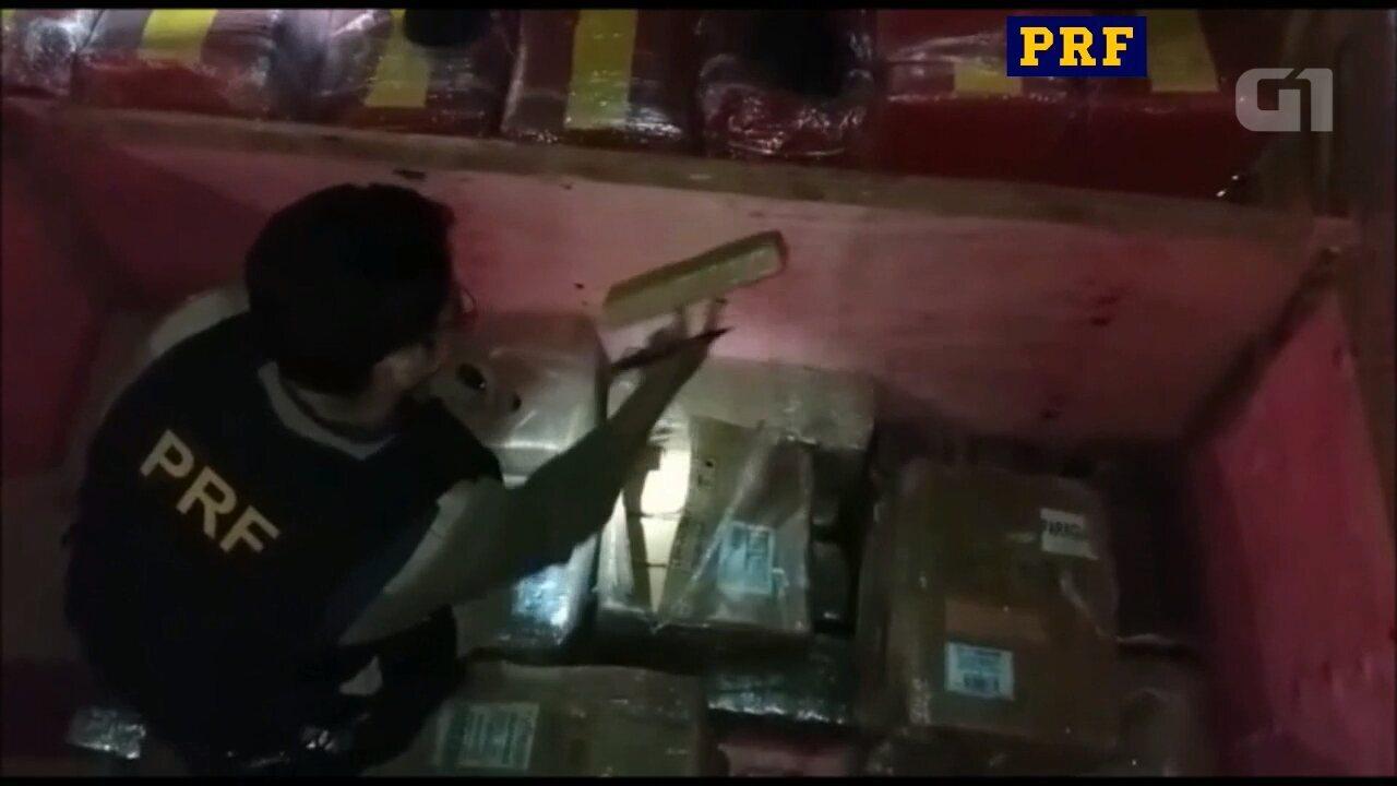 Resultado de imagem para PRF apreende 2,5 toneladas de maconha em carga de peças para câmara frigorífica; vídeo