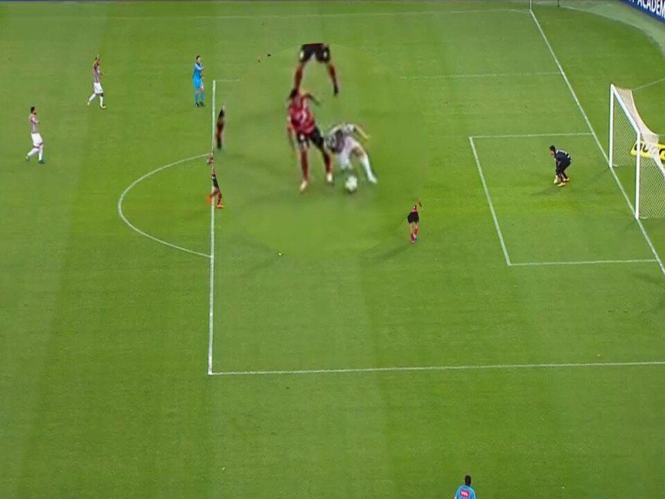 Veja no detalhe o lance do gol de Wendel contra o Atlético-GO