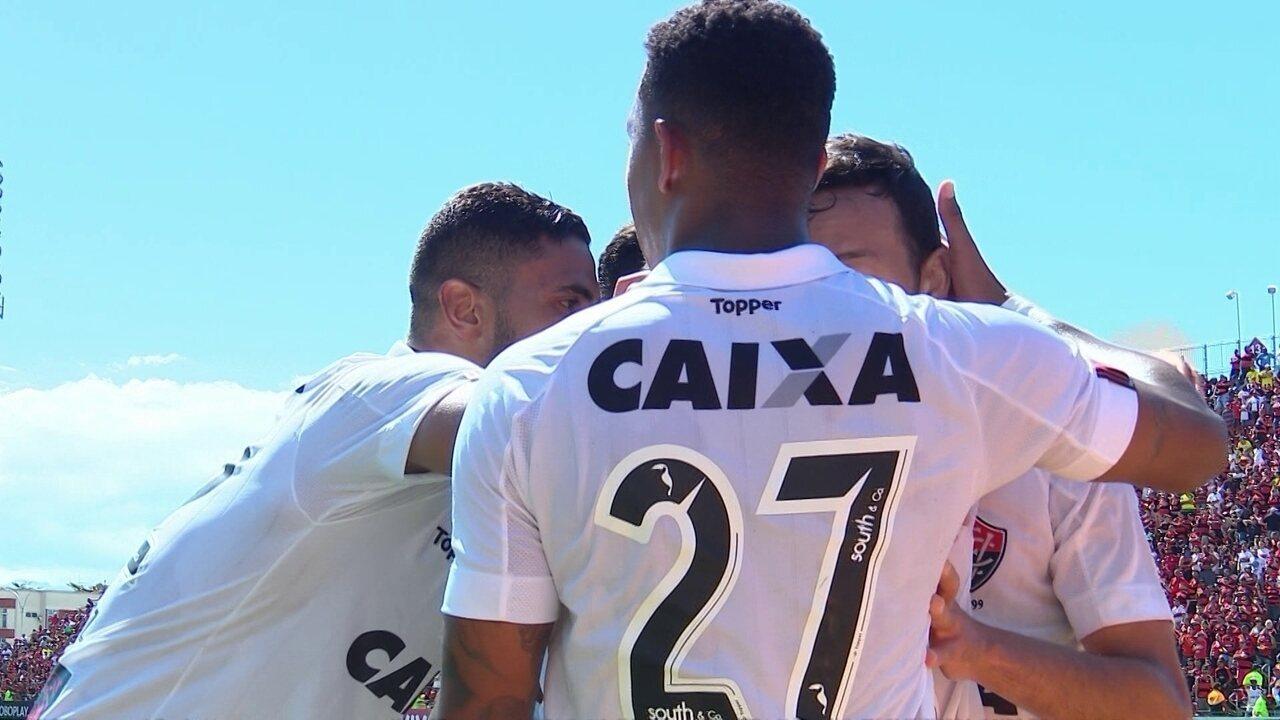 Gol do Vitória! Willian Arão erra feio e Yago aproveita 79b41adac2824