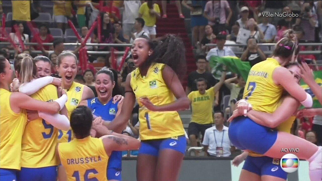 Melhores momentos: Brasil 3 x 2 Itália pela Final do Grand Prix de Vôlei