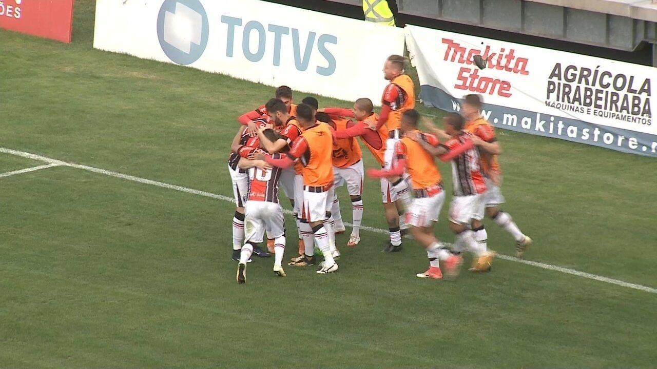 O gol de Joinville 1 x 0 Botafogo-SP - Série C 2017