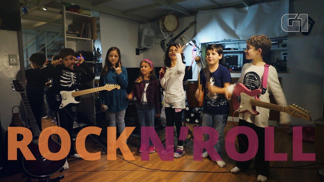 Crianças escutam hits de atrações internacionais do Rock in Rio 2017