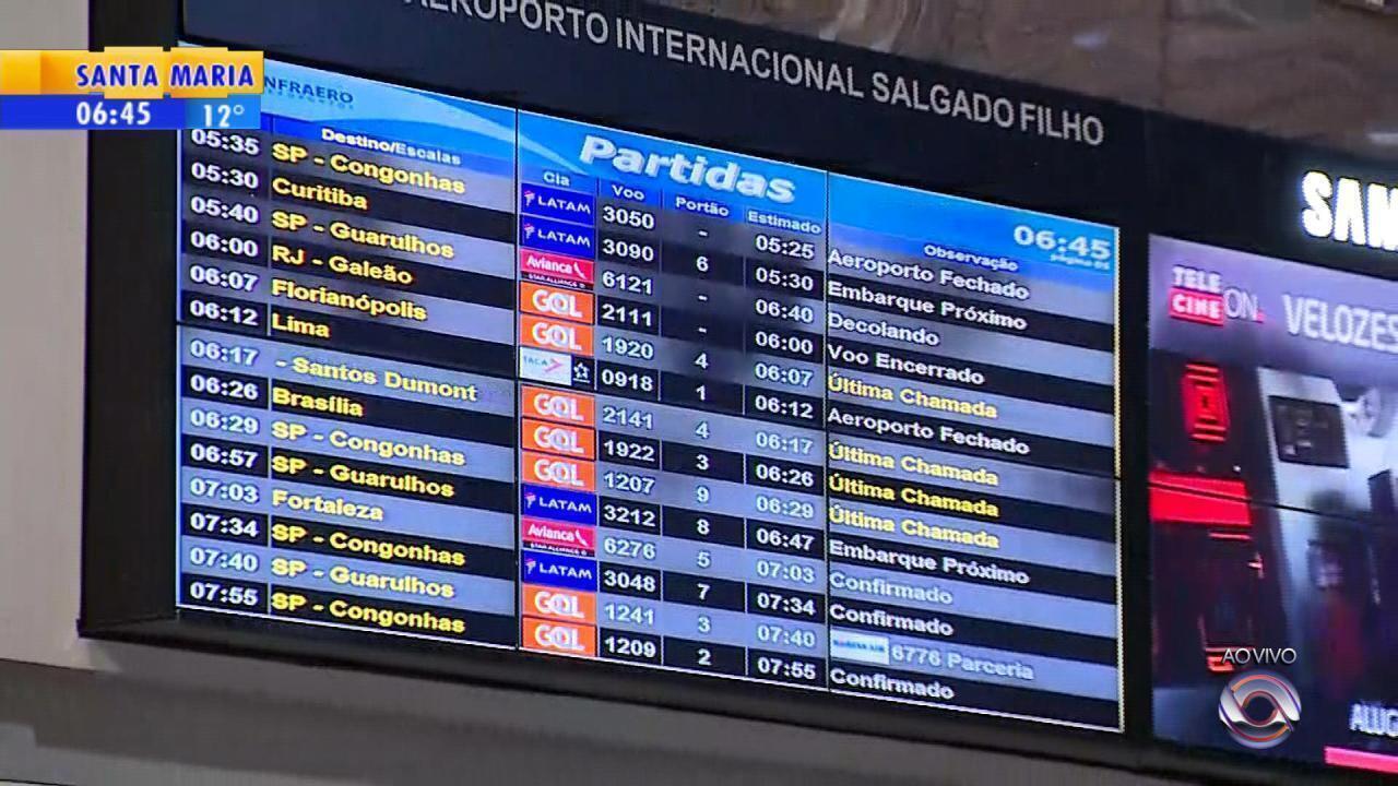 Aeroporto Salgado Filho é fechado por causa da neblina em Porto Alegre