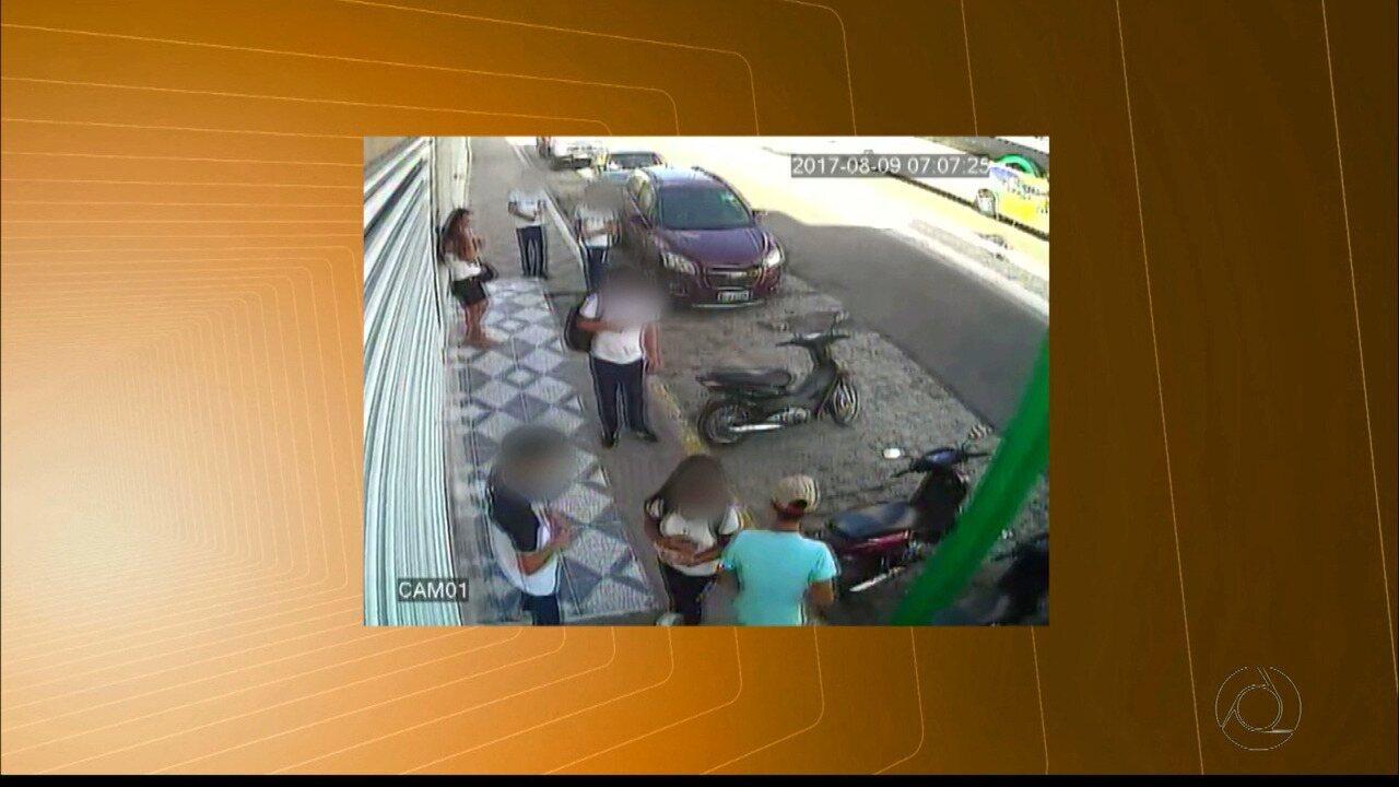 Câmeras de segurança flagram assalto a estudantes em Patos, no Sertão da PB