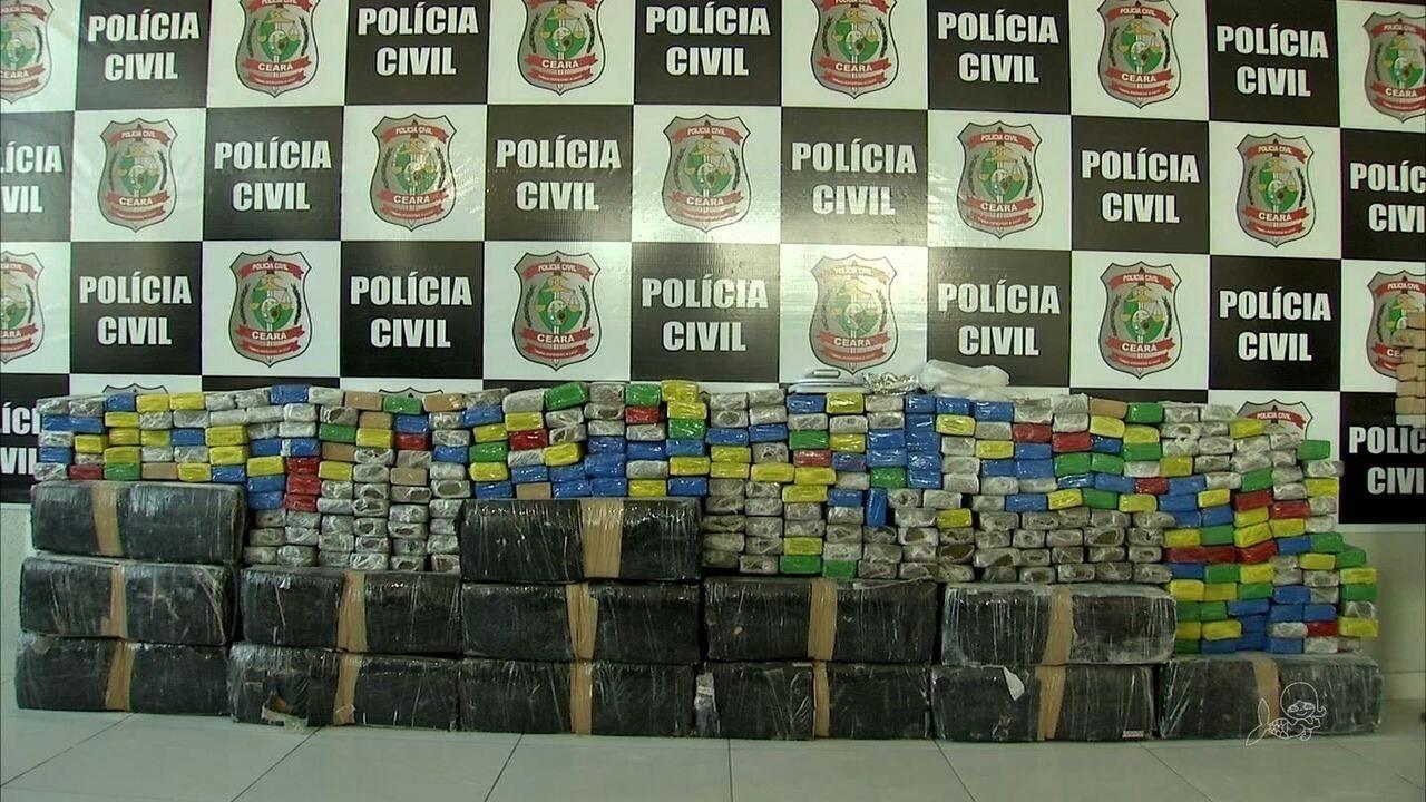 Polícia apreende 600 quilos de drogas escondidos em forro de casa no Ceará