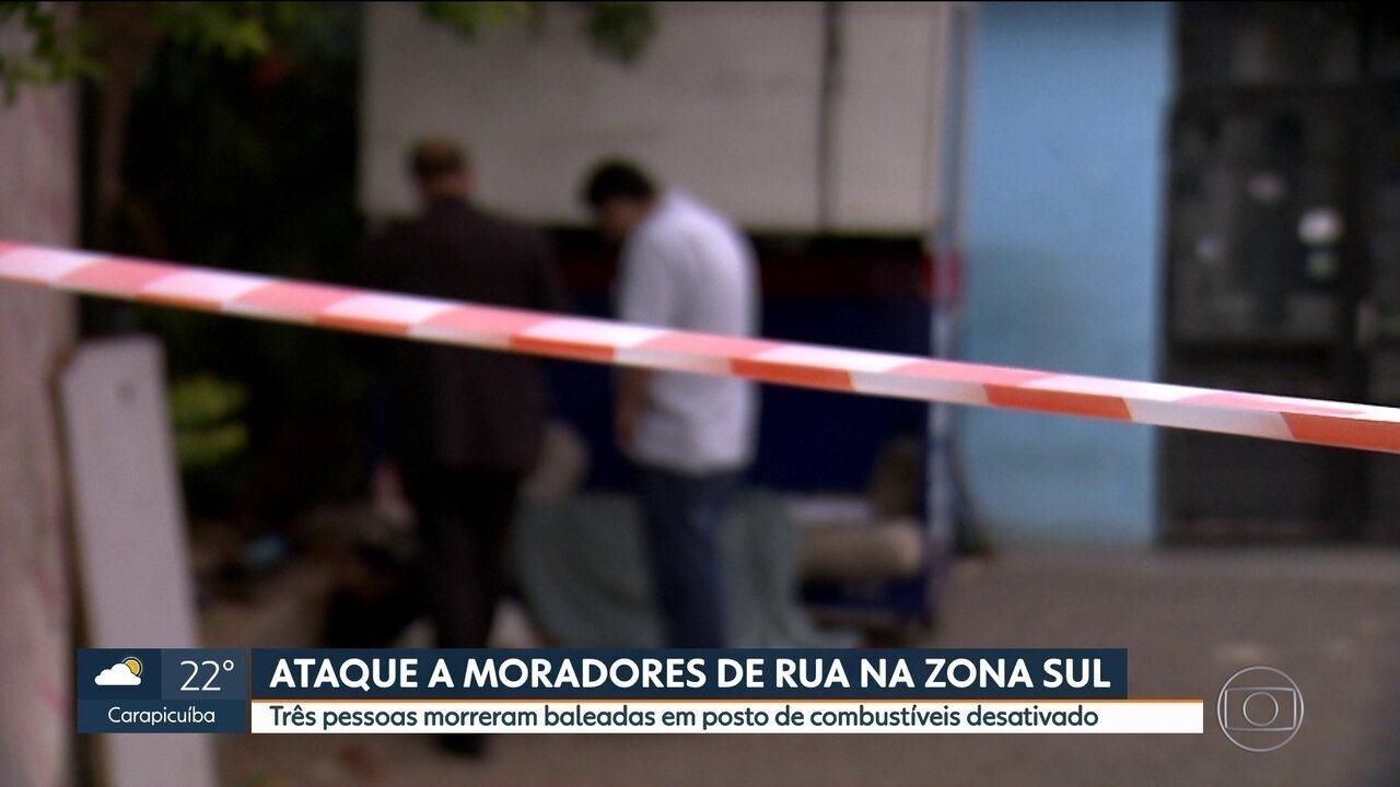 Três moradores de rua são assassinados em São Paulo