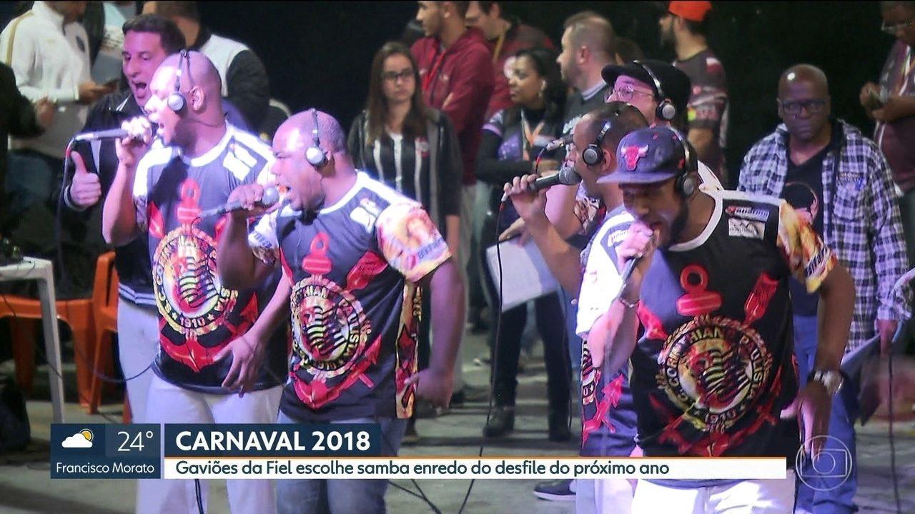 Gaviões da Fiel escolhe samba-enredo para 2018