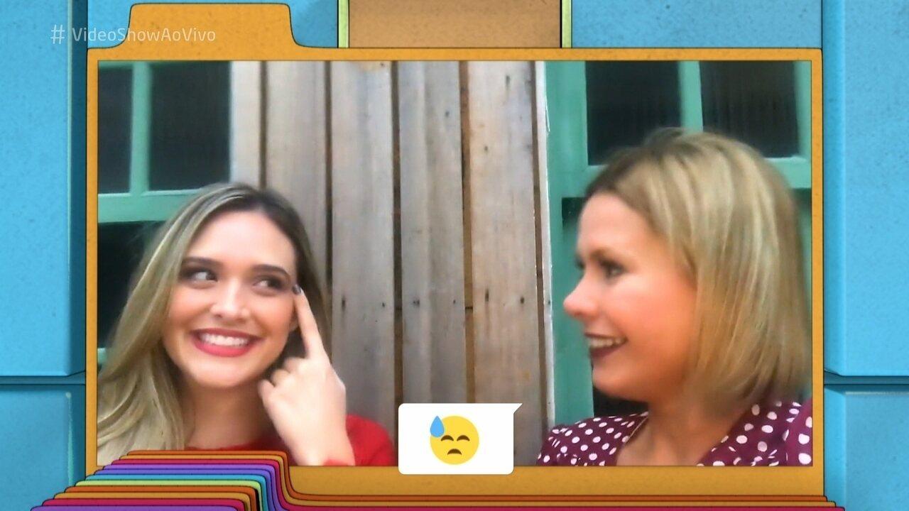 Juliana Paiva escolhe emojis para retratar seu dia a dia