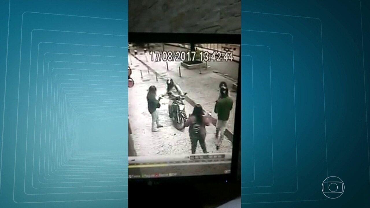 Imagens mostram assaltos em Botafogo
