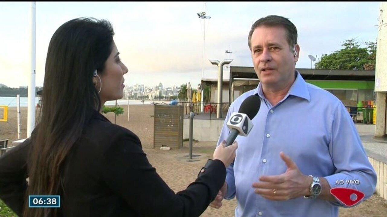 Prefeito comenta mudanças com transferência da administração das praias da capital para o município