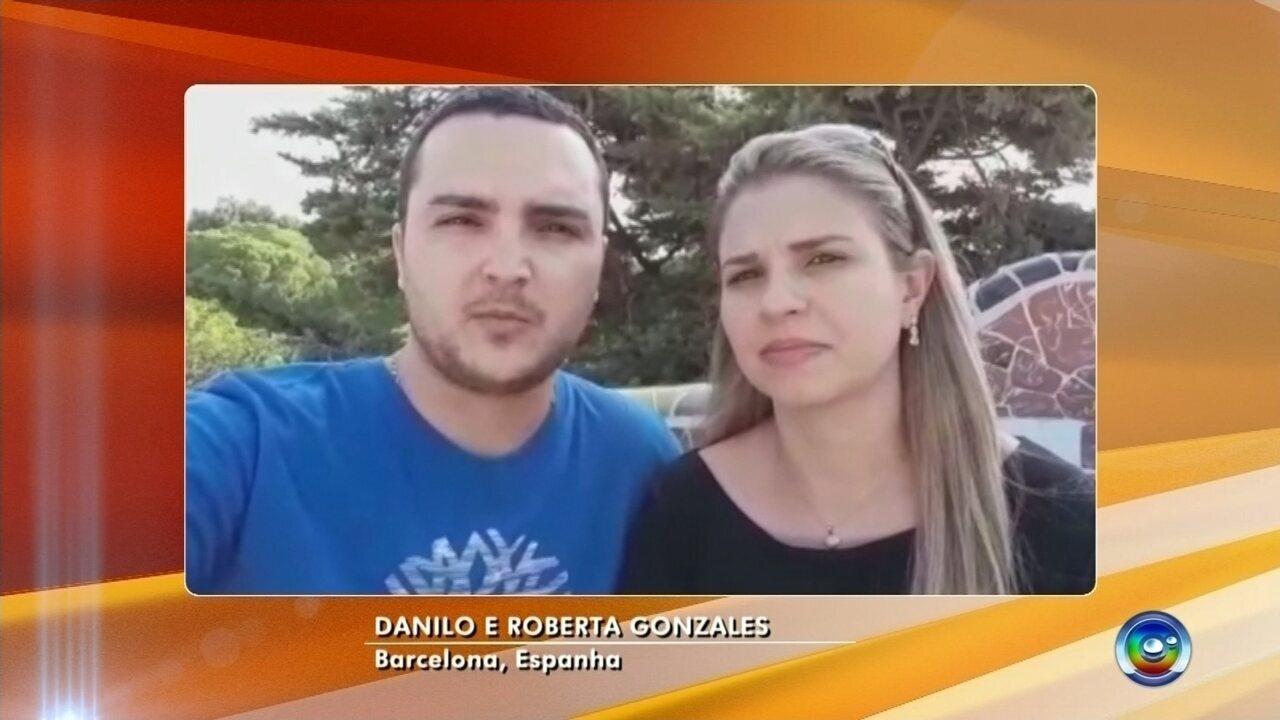 Casal de Bauru fala sobre pânico após atentado em Barcelona