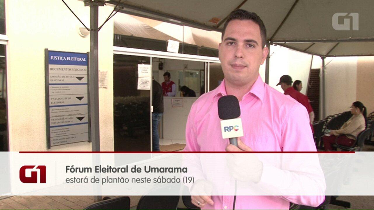 Fórum Eleitoral de Umuarama estará de plantão neste sábado (19)