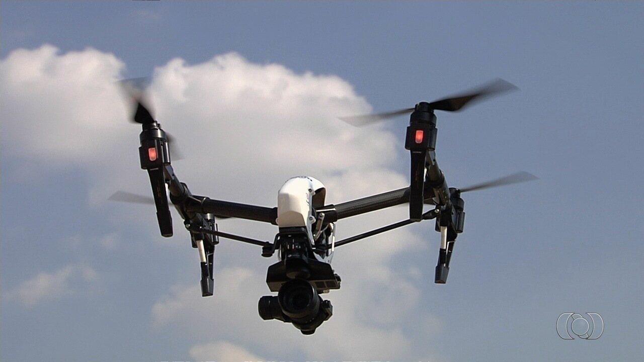 Concessionária usa drone para fiscalização na BR-153, em Goiás