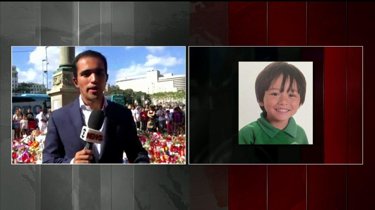 Menino de 7 anos é uma das vítimas do ataque terrorista na Espanha