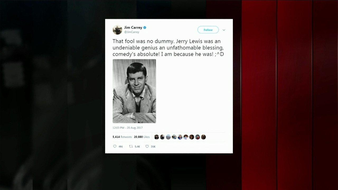 Atores e comediantes americanos falaram sobre Jerry Lewis nas redes sociais