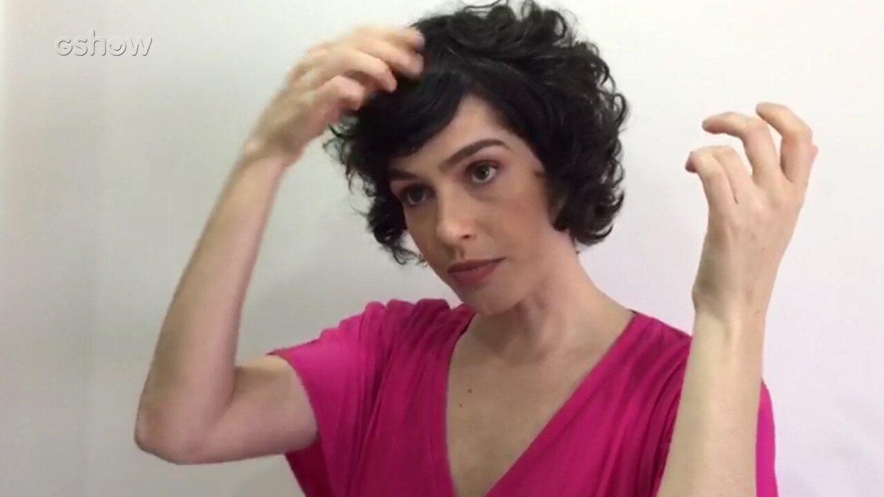 Maria Flor ensina truques para cabelos curtos e cacheados