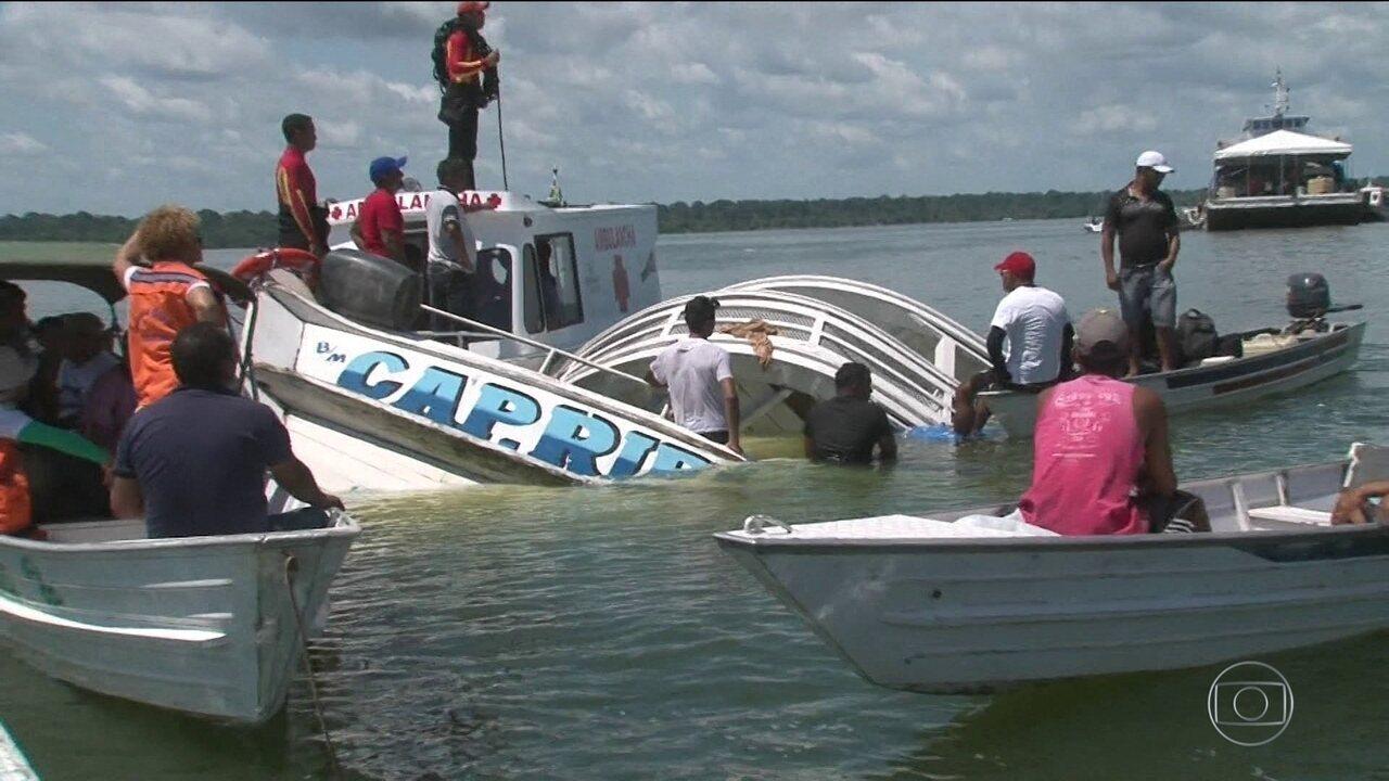 Naufrágio no Pará ainda tem 37 desaparecidos