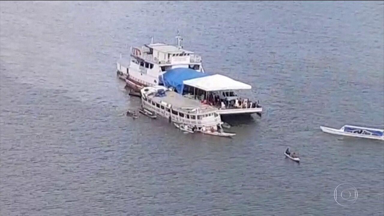 Embarcação de passageiros naufraga no Rio Xingu