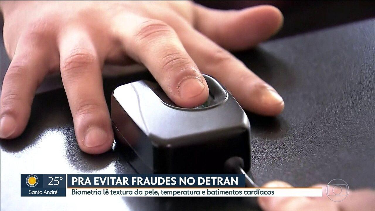 Detran adora biometria para tentar impedir fraudes
