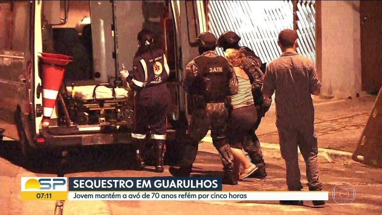 Neto mantém avó refém por mais de 5 horas na Grande SP