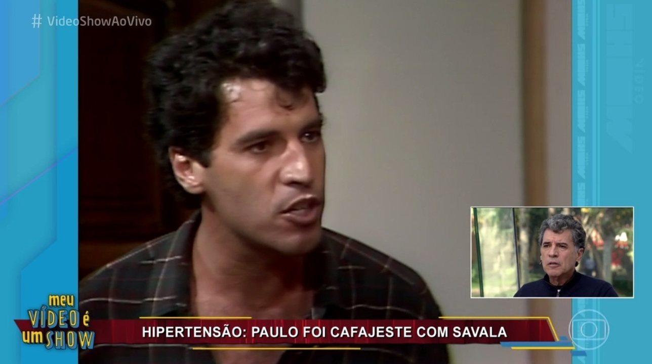 Paulo Betti revisitou carreira no 'Vídeo show'
