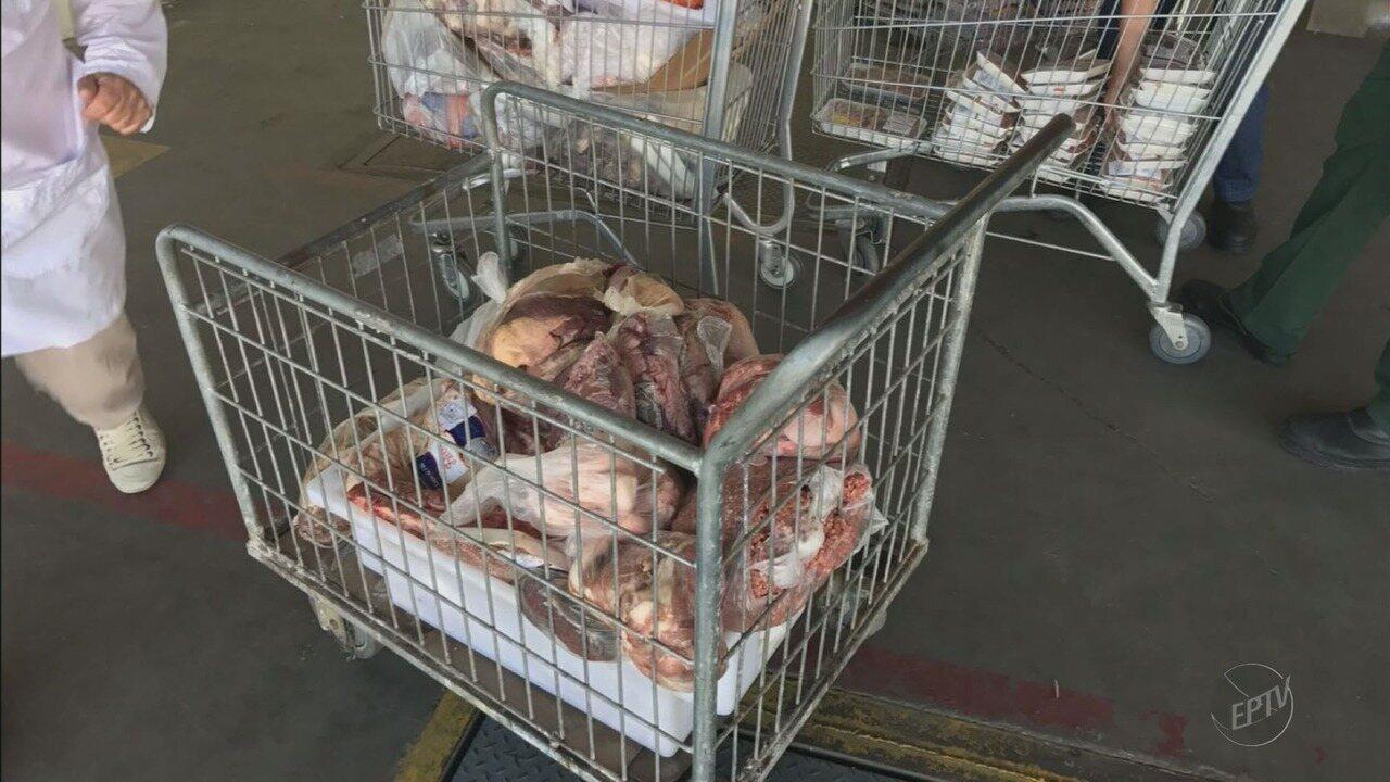 Vigilância Sanitária apreende 350 Kg de carnes em supermercado no Centro de Itajubá (MG)