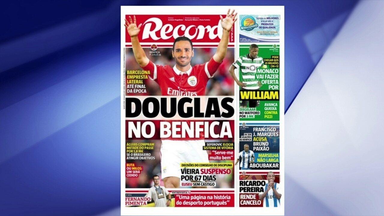 Douglas preparado para assinar contrato com o Benfica
