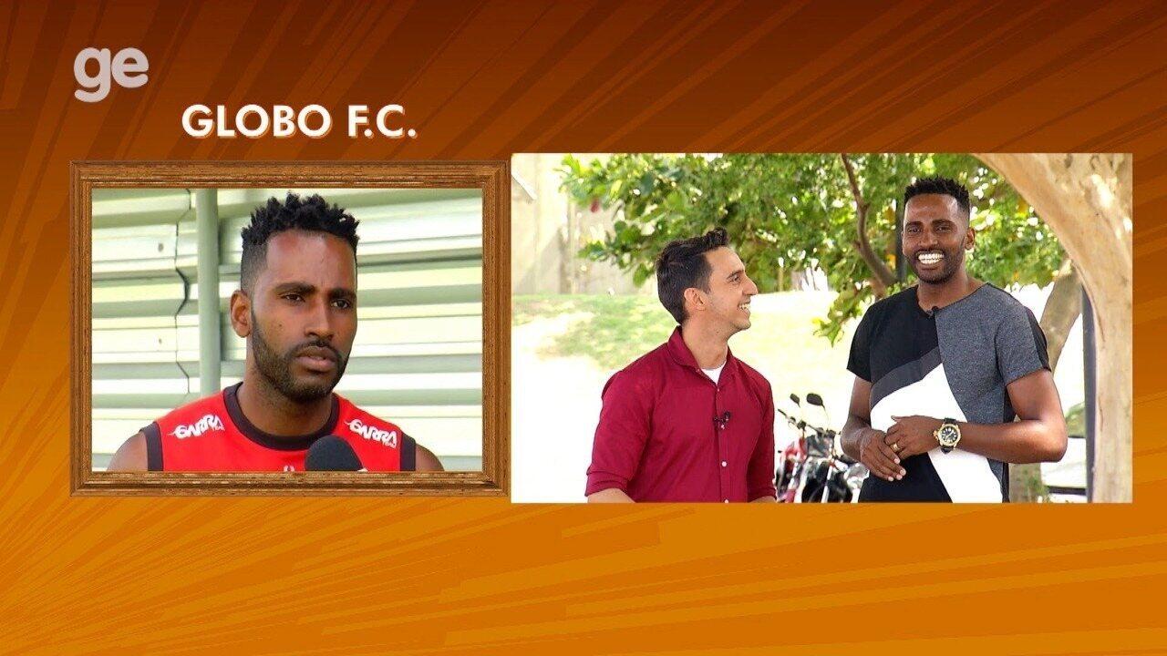 Volante Reinaldo fala sobre o Globo FC no quadro 'Retrato Revelado'