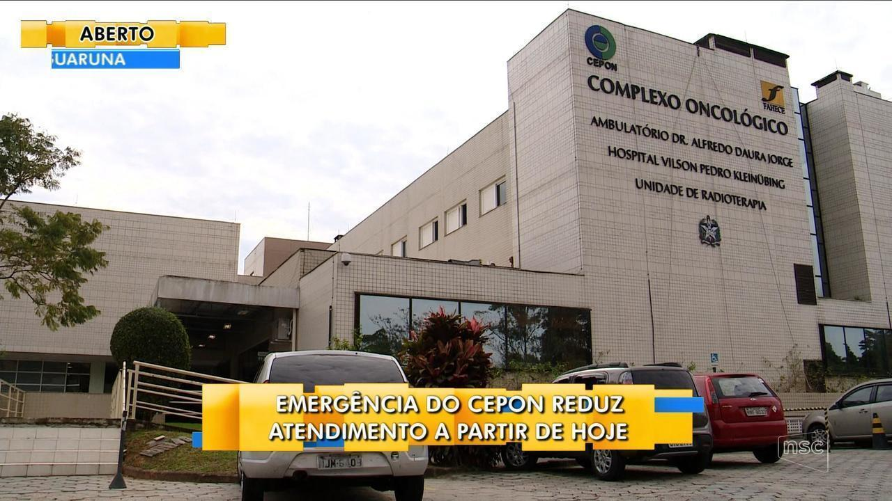 Emergência do Cepon reduz horário de atendimento a partir desta sexta-feira (1)