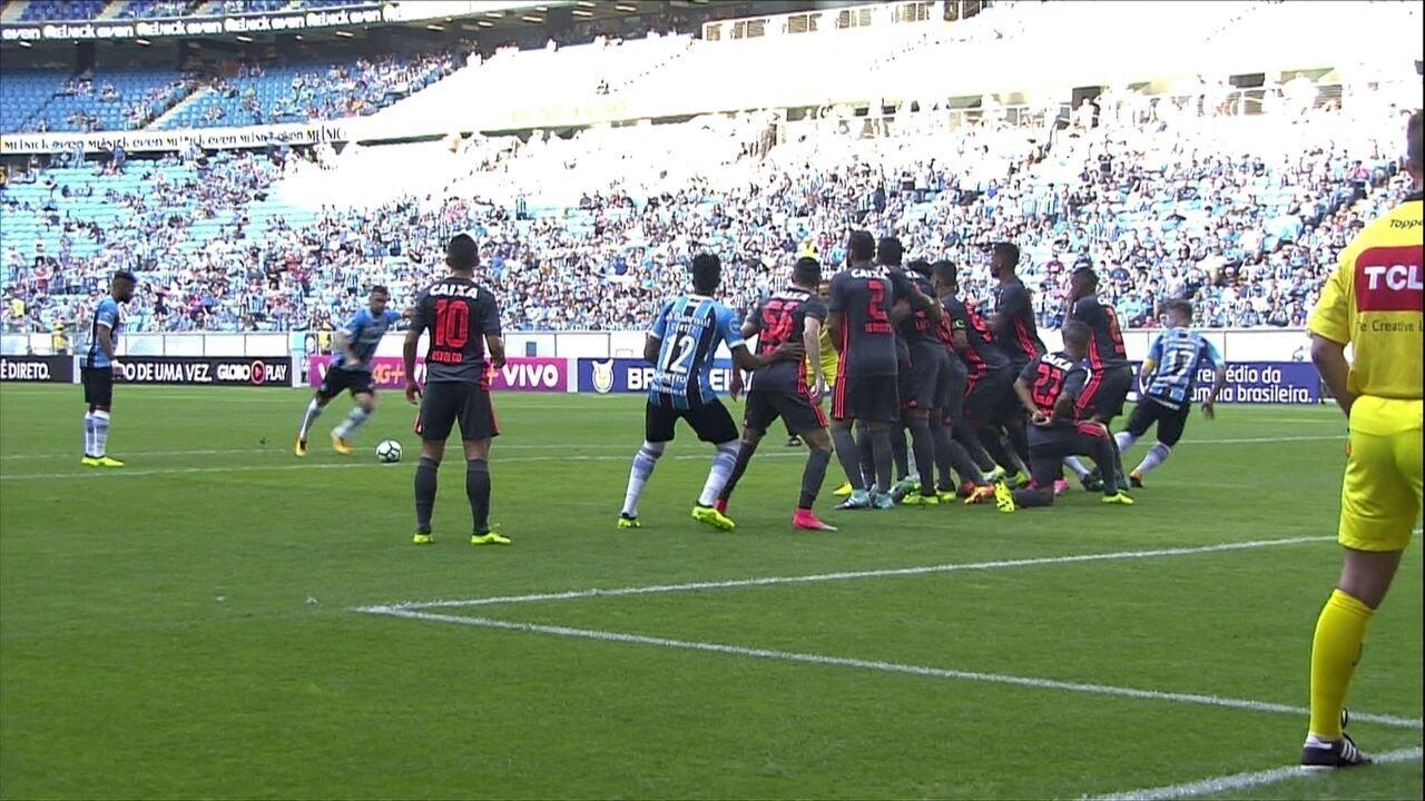 Grêmio goleia Sport e diminui vantagem para o líder Corinthians no Brasileirão