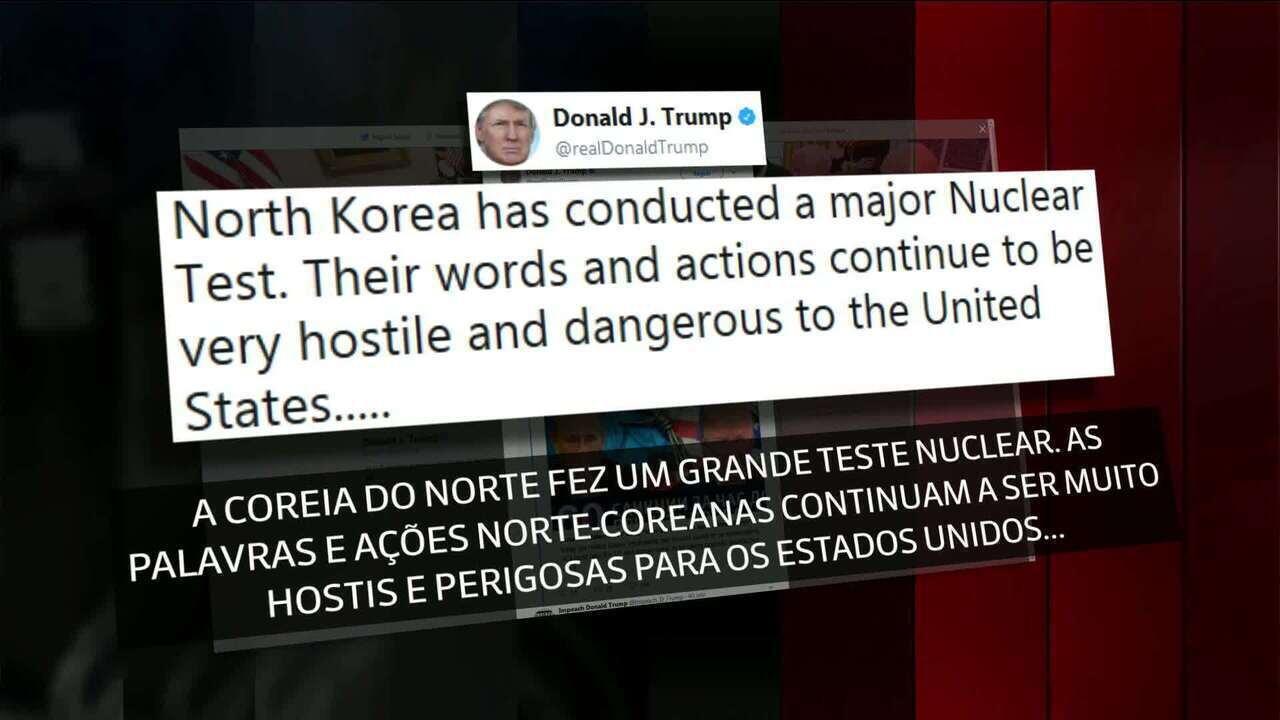 Ao ser perguntado se atacaria a Coreia do Norte, Trump respondeu: