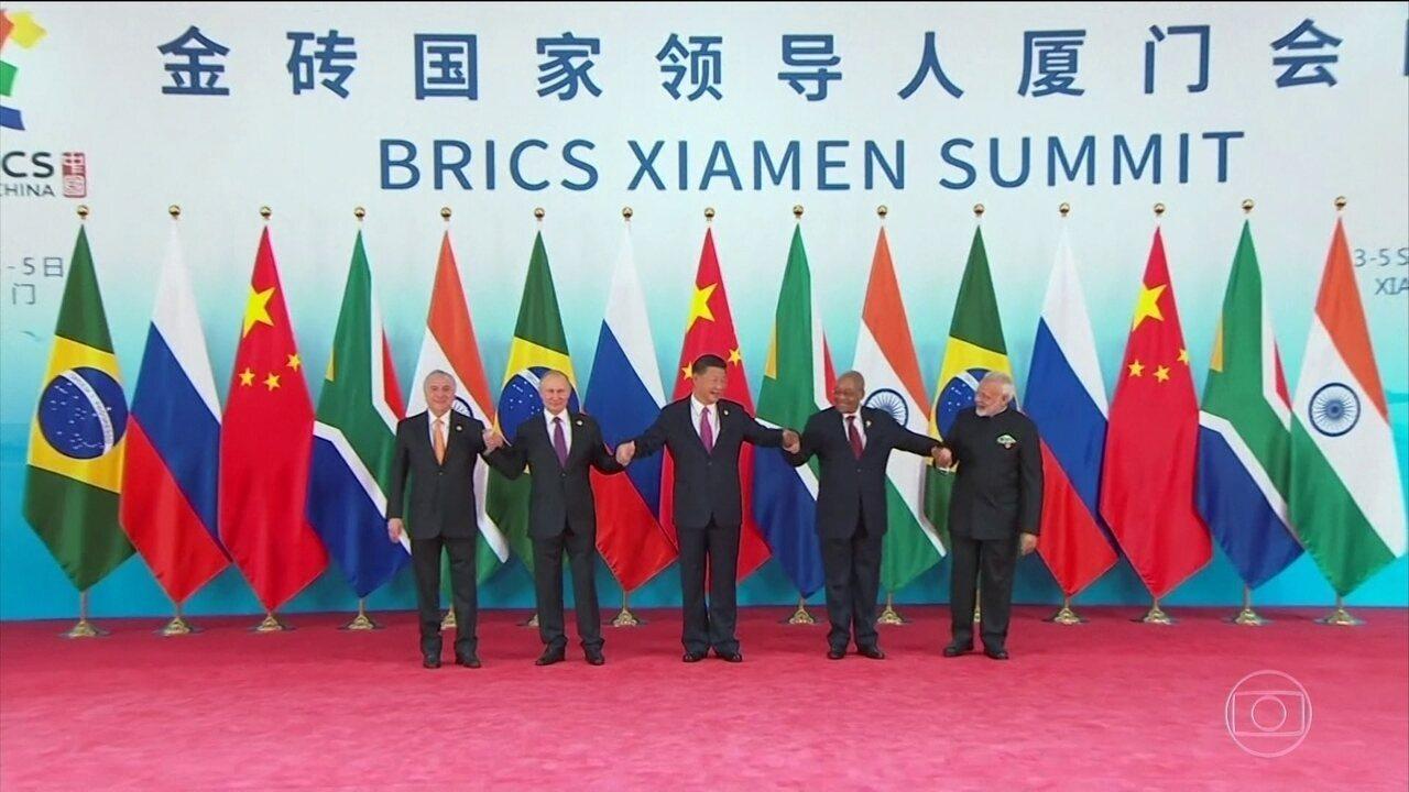 China pede para Brics se posicionar contra protecionismo
