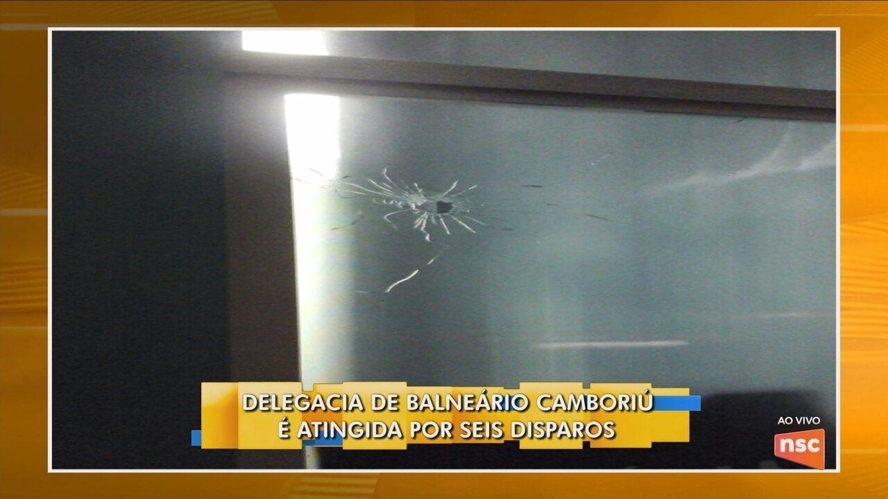 Delegacia de Balneário Camboriú é atingida por seis disparos
