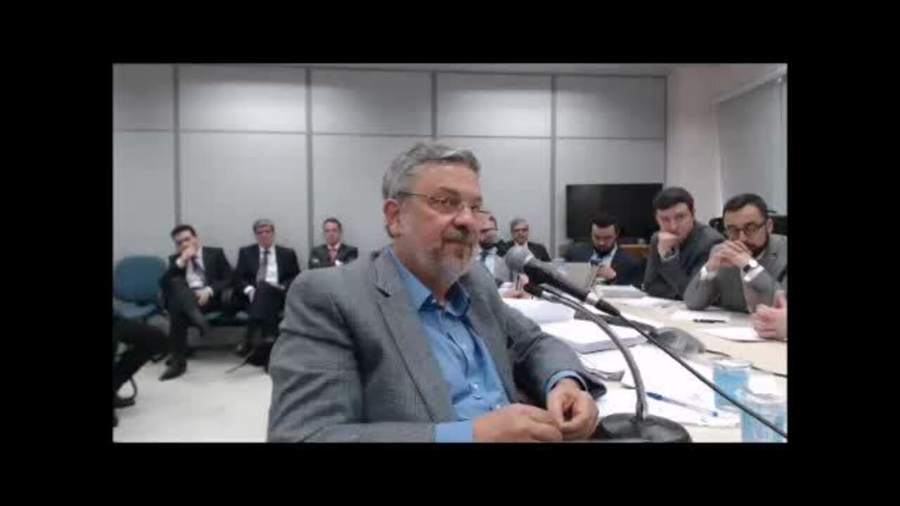 Depoimento de Antônio Palocci a juiz Sérgio Moro – vídeo 4