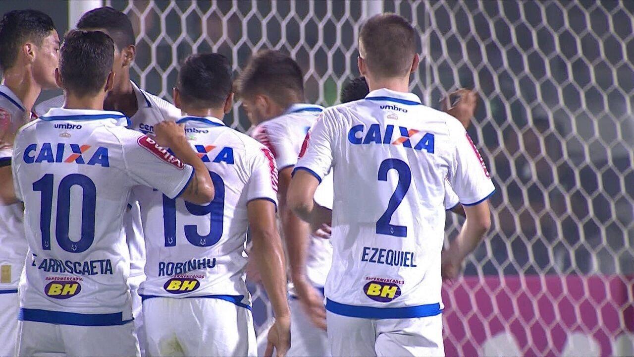 Vitória do Vasco obriga Cruzeiro a vencer Chapecoense para seguir no G6