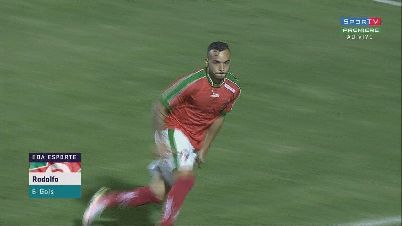 Gol de empate do Boa! Rodolfo recebe de Ruan em posição irregular e empata contra o jogo