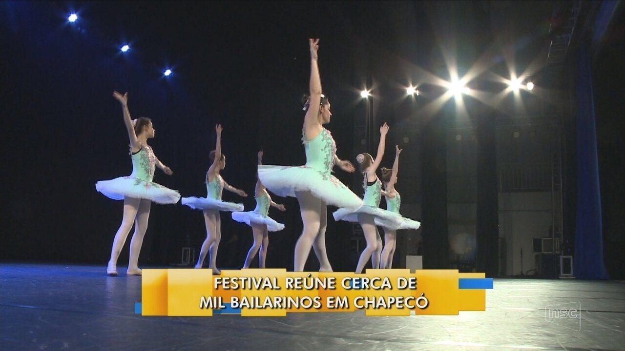 Festival reúne cerca de mil bailarinos em Chapecó