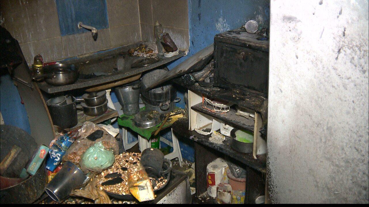 Incêndio em fogão destrói cozinha em apartamento de Campina Grande