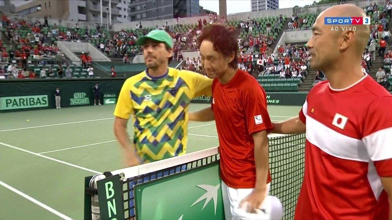 Chuva atrasa jogo de duplas do Brasil contra Japão pela Copa Davis