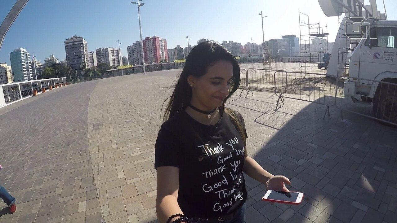 G1 marca tempo de caminhada entre as principais atrações do Rock in Rio
