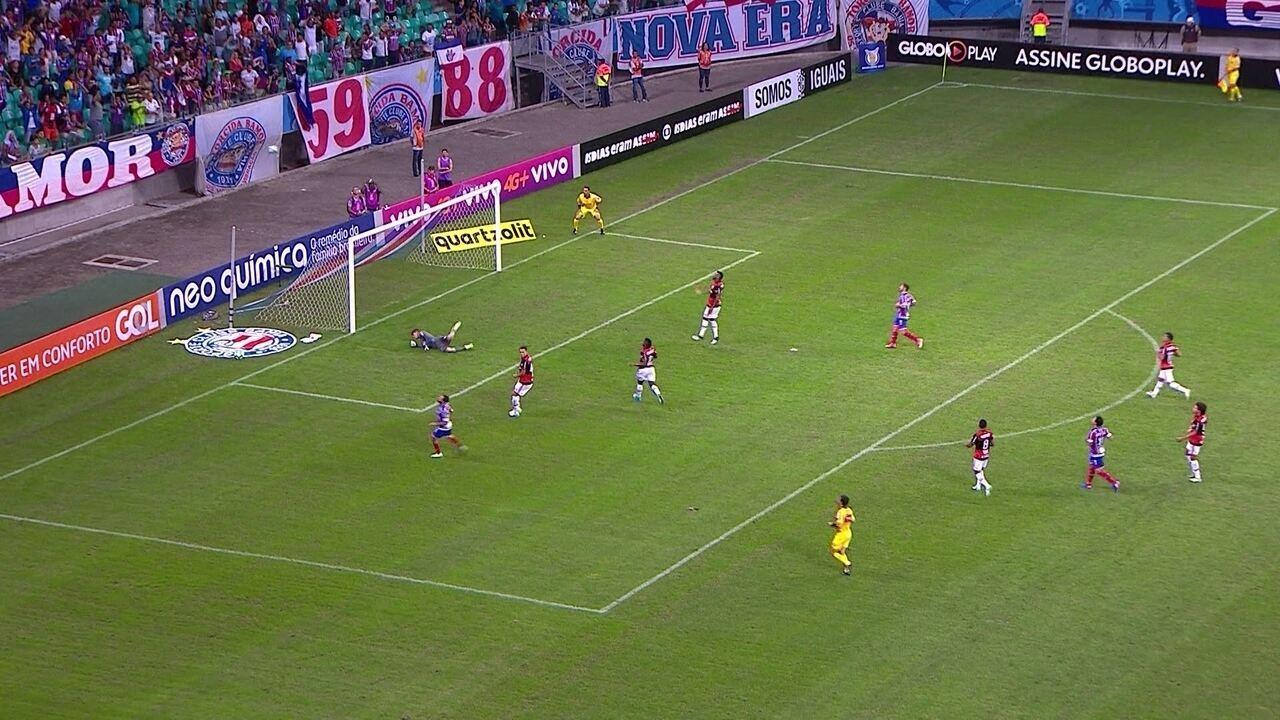 Confira os lances em que Thiago foi exigido contra o Bahia