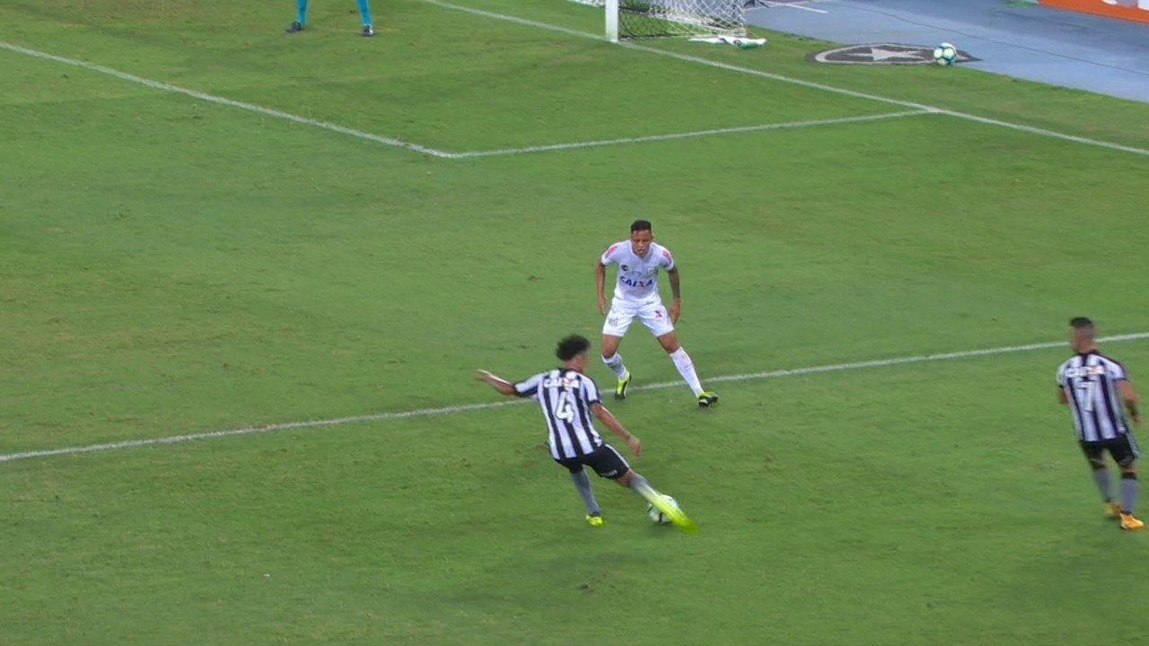 Melhores momentos de Botafogo 2 x 0 Santos pela 24ª rodada do Campeonato Brasileiro