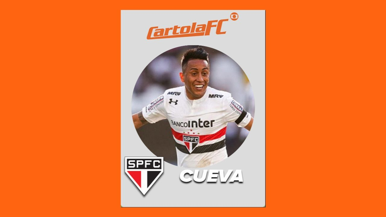 Cueva, do São Paulo, é o craque do Cartola FC na 24ª rodada do Brasileirão 2017