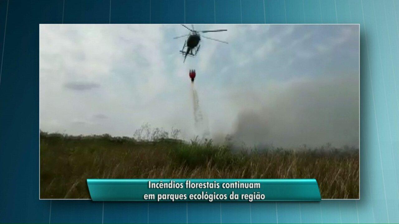 Dois aviões vão ajudar no combate ao incêndio em Ilha Grande