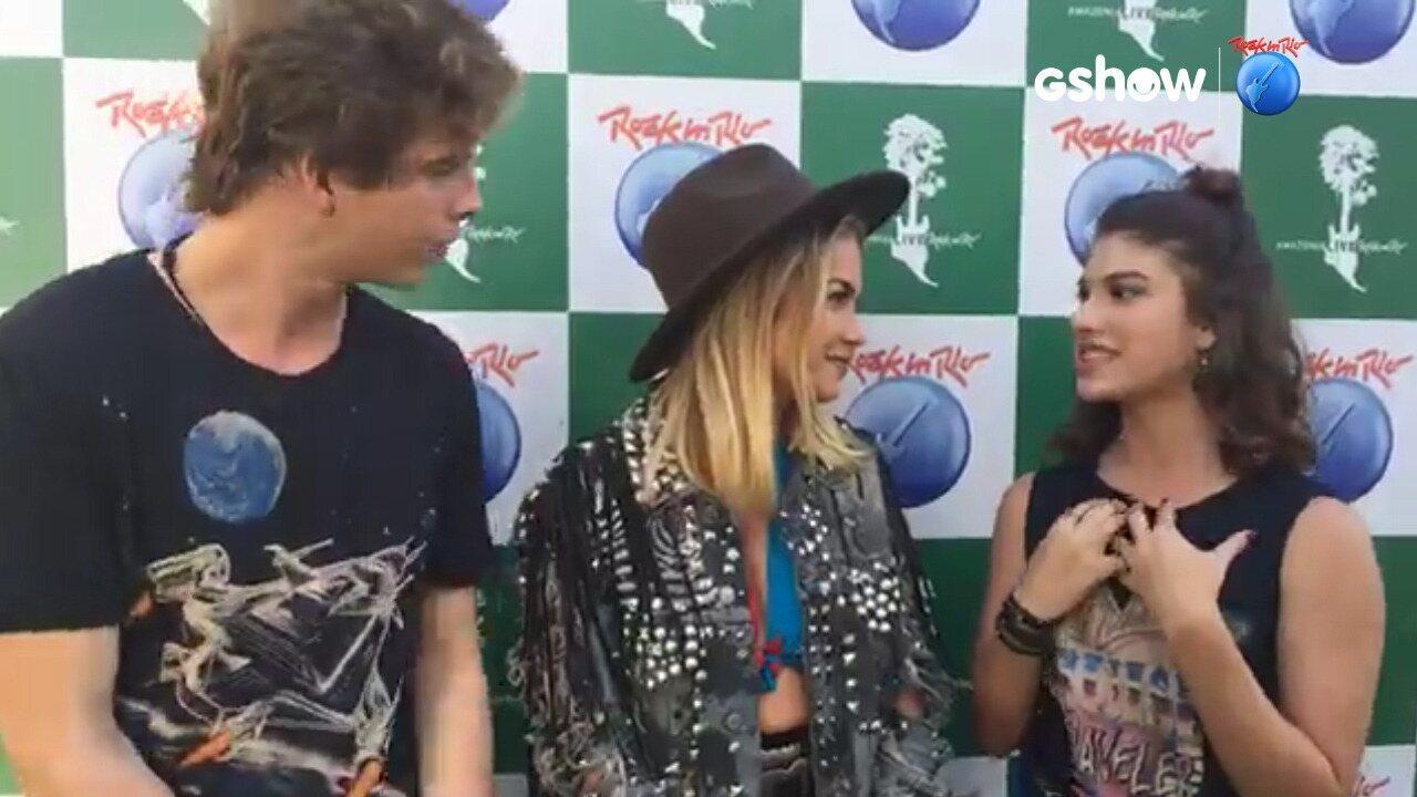 Giovanna Grigio e Vinicius Wester batem um papo com Lua Blanco