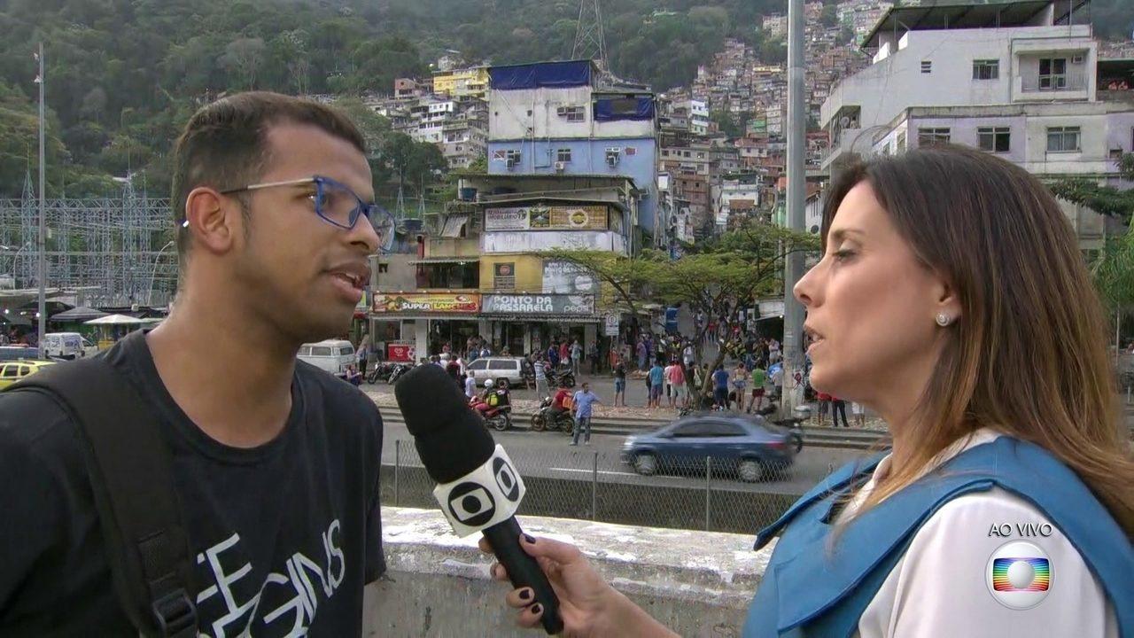 Morador da Rocinha se diz apreensivo para voltar pra casa